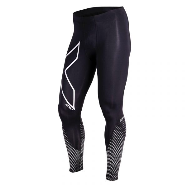 2XU Men's Reflect Compression Tight with reflective panelling to help you stay visible. Compression technology, moisture wicking and PWX fabrics.