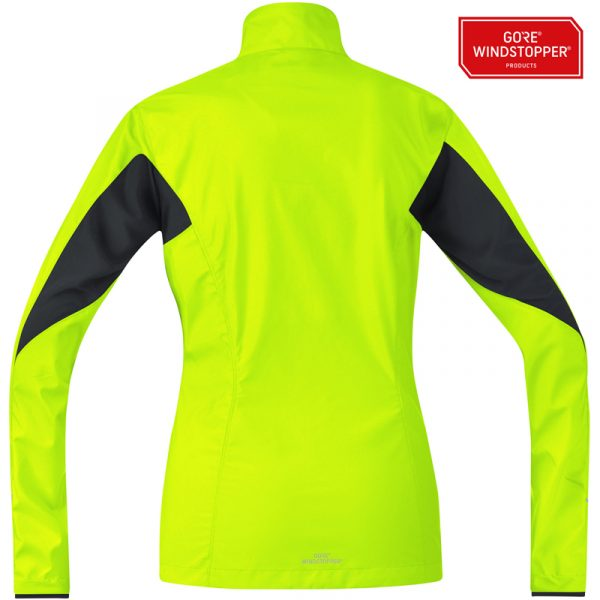 Gore Running Wear Essential WINDSTOPPER Active Shell Partial Women's Jacket Back