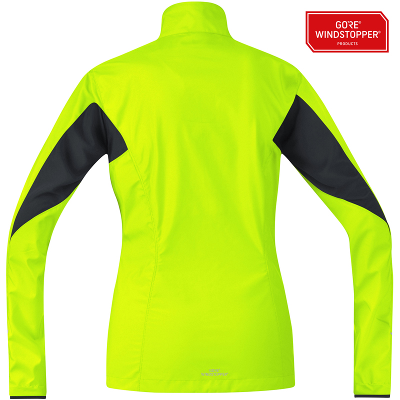 bd320dc3c471f Gore Running Wear Essential WINDSTOPPER Active Shell Partial Women s Jacket  Back