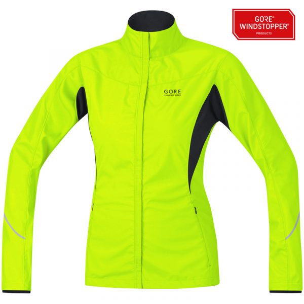Gore Running Wear Essential WINDSTOPPER Active Shell Partial Women's Jacket Front