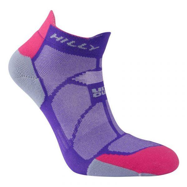 Hilly Marathon Fresh Socklet Running Sock Studio Shot