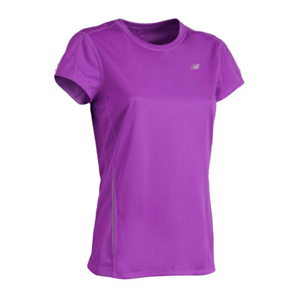 New Balance Tempo Women's Short Sleeve Running Tee Front View