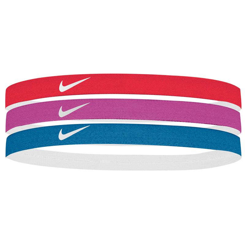 Nike Printed Headbands Assorted 3 Pack Red Magenta Turq eeab5c1b5e3