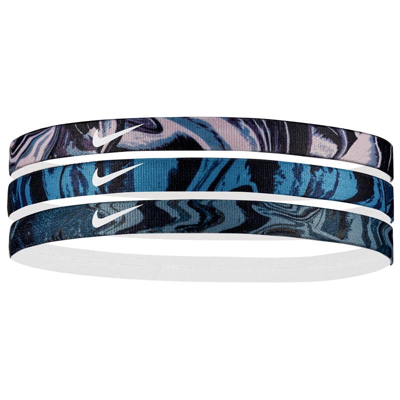 Nike Printed Headbands Assorted 3 Pack Rose Aqua Clay b800e79b2bc