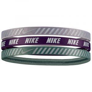 Nike Printed Headbands Assorted 3 Pack Clay Green Purple