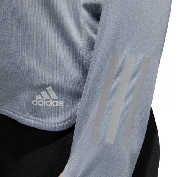 adidas Response Halfzip Long Sleeve Women's Running Tee Detail Preview