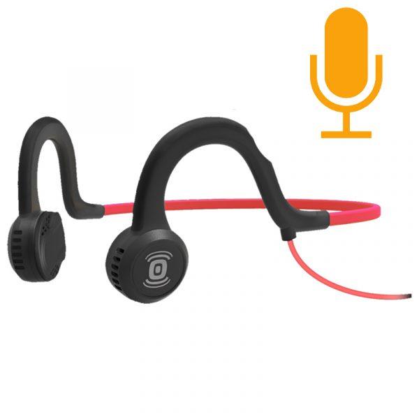 Aftershokz Sportz Titanium Headphones with Mic Lava Red