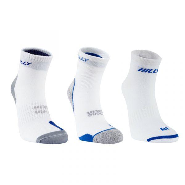 Hilly Triple Variety Sock Pack - White/Blue Studio Shot
