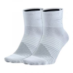 Nike Anti-Blister Unisex Running Sock 2 Pack White Grey