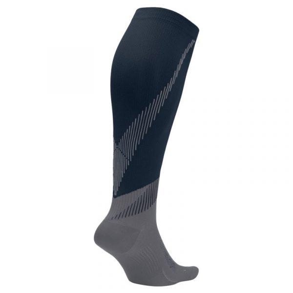 Nike Elite Lightweight Unisex Compression Sock Black Grey Back
