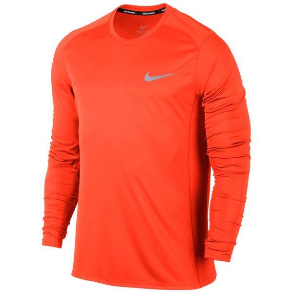 Nike Miler Long Sleeve Men's Running Tee Front