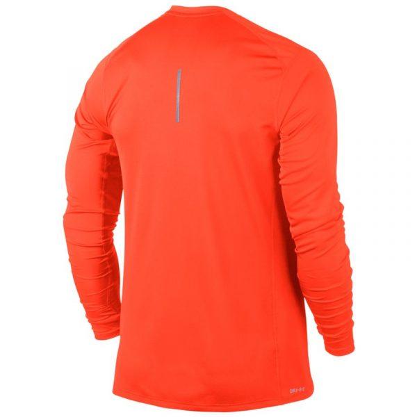Nike Miler Long Sleeve Men's Running Tee Back