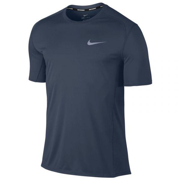Nike Miler Short Sleeve Men's Running Tee Thunder Blue Front