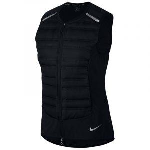 Nike Aeroloft Women's Running Vest Black Front