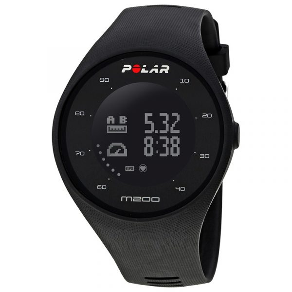 Polar M200 GPS Running Watch Black - Front View