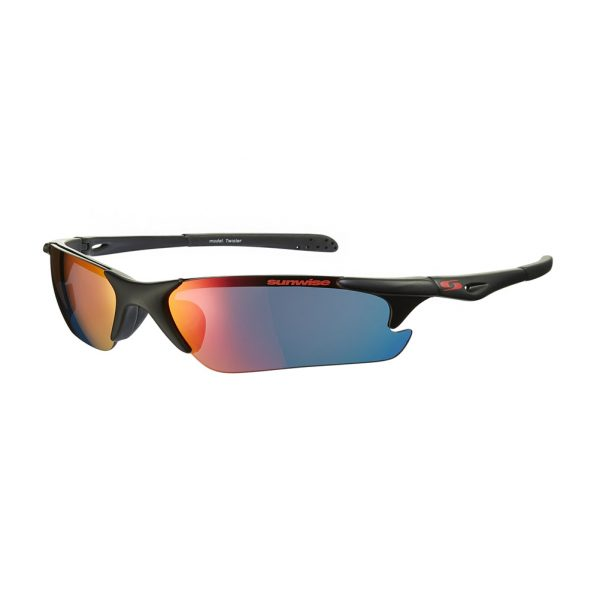 Sunwise Twister Black Running Sunglasses