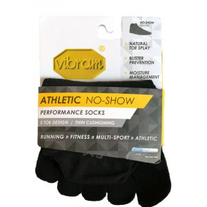 Vibram Five Toe Athletic No Show Sock Black