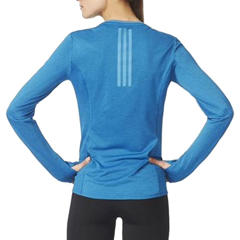 adidas Supernova Long Sleeve Women's Running Tee Model Back View
