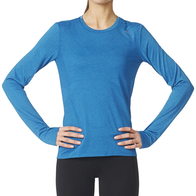 adidas Supernova Long Sleeve Women's Running Tee Model Front View