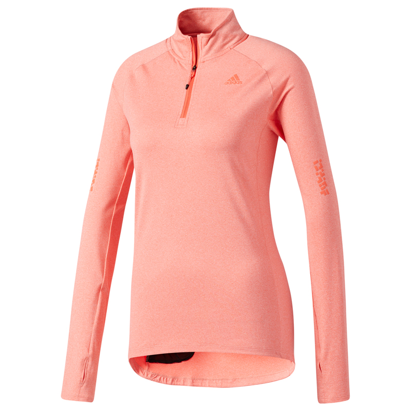 adidas Supernova Half Zip Women's Running Top Front View