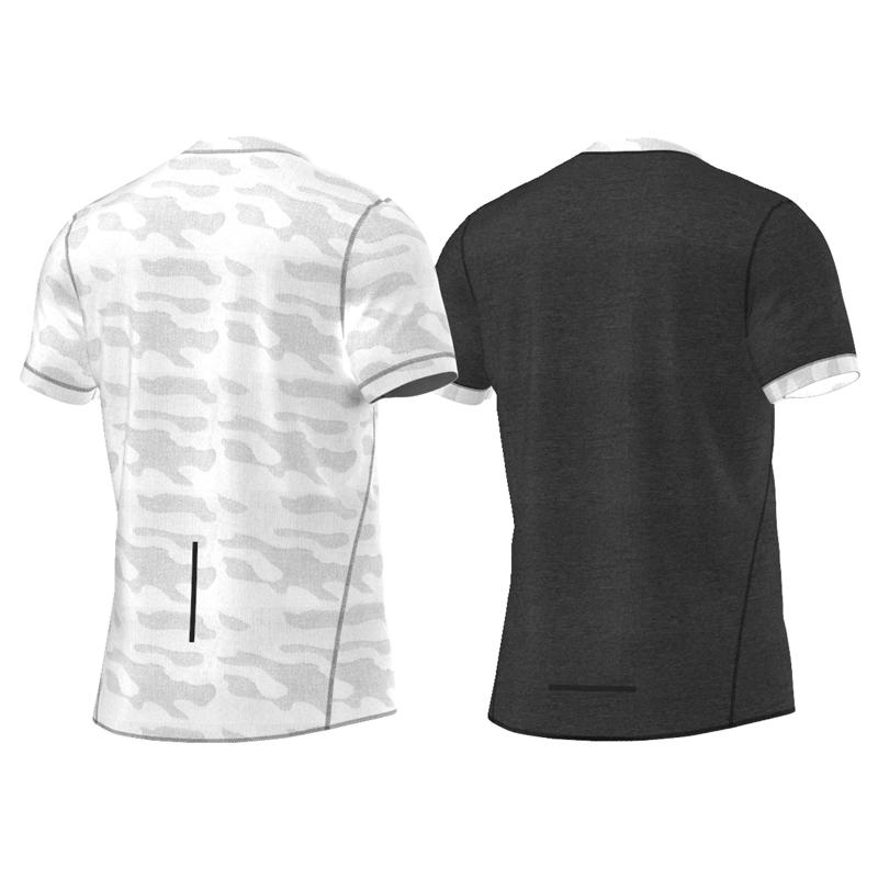 adidas Kanoi Reversible Men's Short Sleeve Running Tee Back Shots