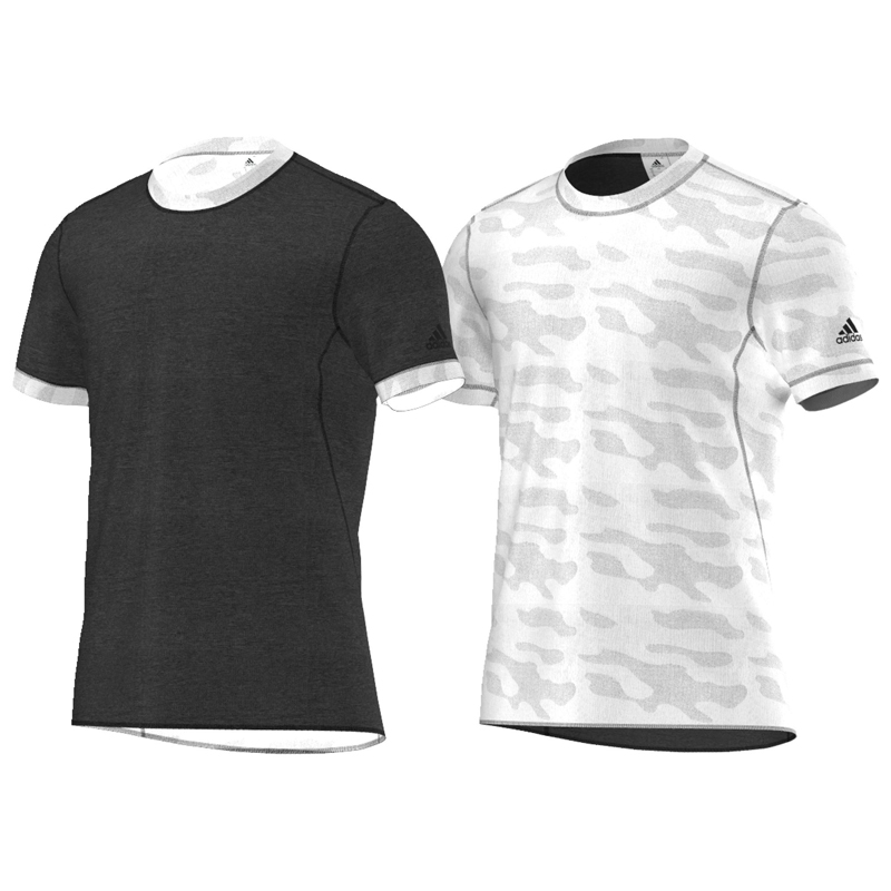 adidas Kanoi Reversible Men's Short Sleeve Running Tee Both