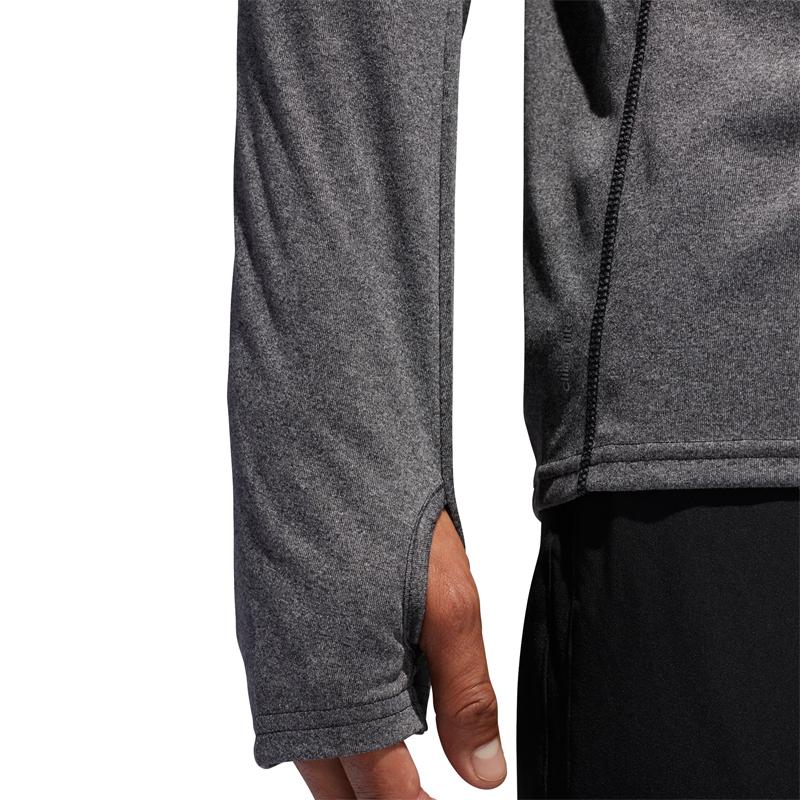 adidas Response Long Sleeve Men's Half zip Tee Sleeve View