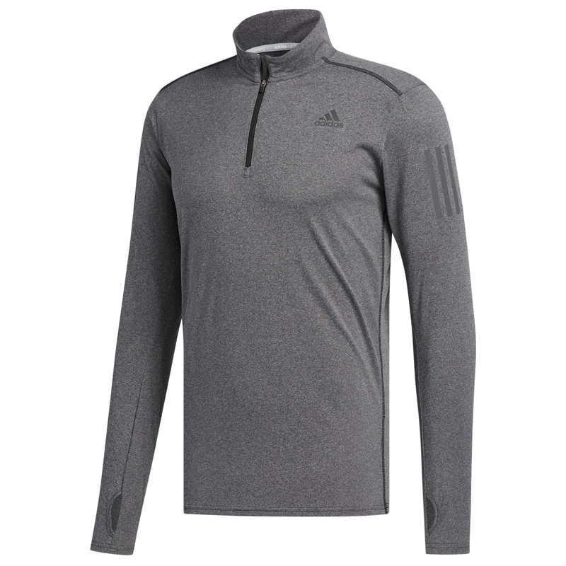 adidas Response Long Sleeve Men's Half zip Tee Front View