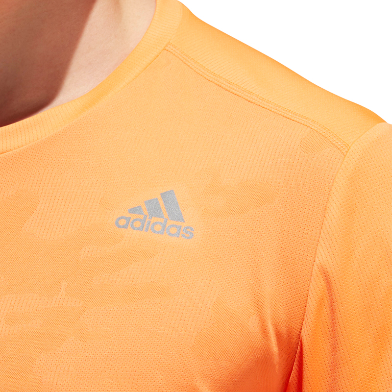 adidas Response Men's Short Sleeve Running Tee Detail