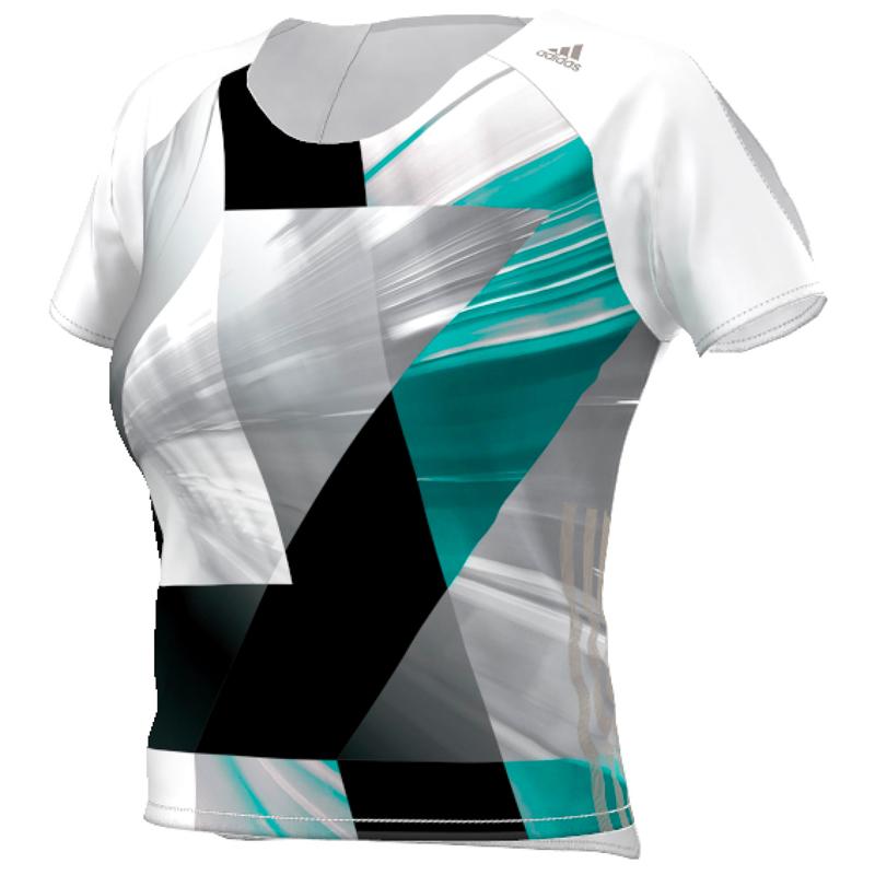 adidas Adizero Women's Short Sleeve Running Tee Front