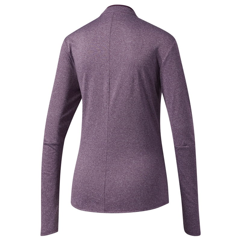 adidas Women's Response Half Zip Long Sleeve Running Tee Back