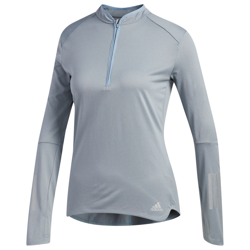 adidas Response Halfzip Long Sleeve Women's Running Tee Front