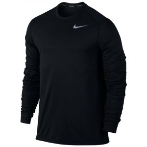 Nike Long Sleeve Men's Running Top Black