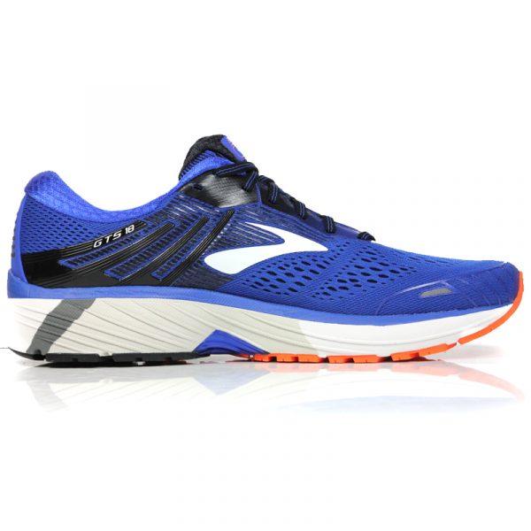 Brooks Adrenaline GTS 18 Men's Running Shoe 2E Wide Fit blue back