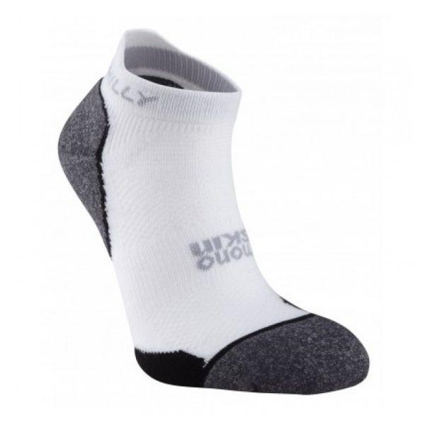 Hilly Supreme Socklet Running Sock white grey side