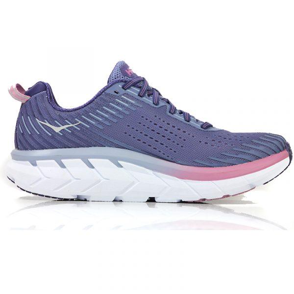 Hoka One One Clifton 5 Women's Running Shoe purp back
