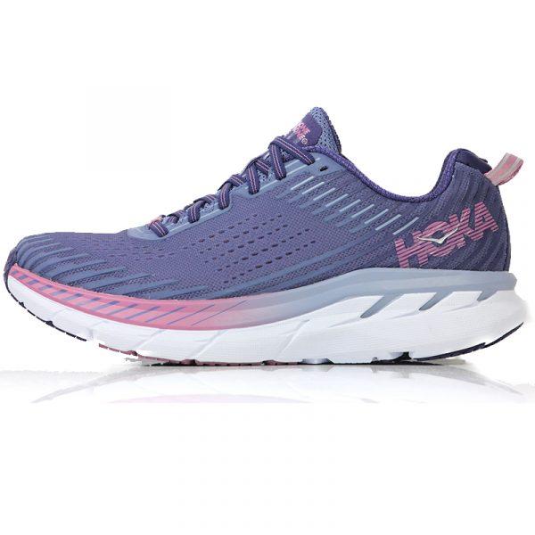 Hoka One One Clifton 5 Women's Running Shoe purp side