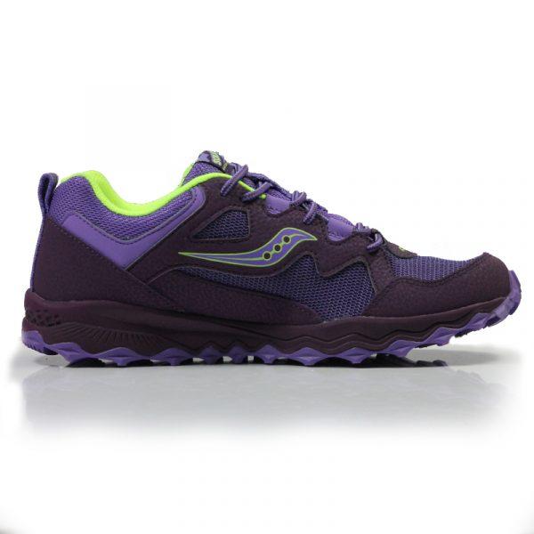 aucony Peregrine Shield Junior Trail Running Shoe purple back