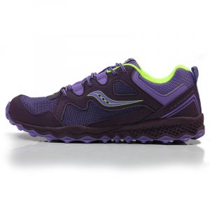 aucony Peregrine Shield Junior Trail Running Shoe purple front