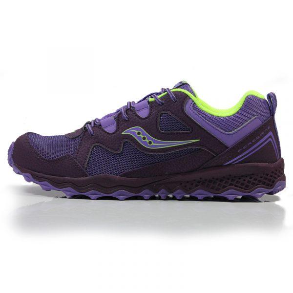 aucony Peregrine Shield Junior Trail Running Shoe purple front