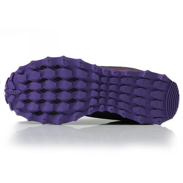 aucony Peregrine Shield Junior Trail Running Shoe purple sole