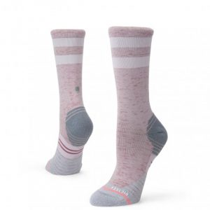 Stance Distance Crew Women's Running Sock grey both
