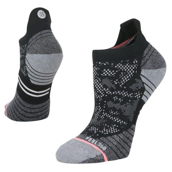 Stance Interval Tab Women's Running Sock black