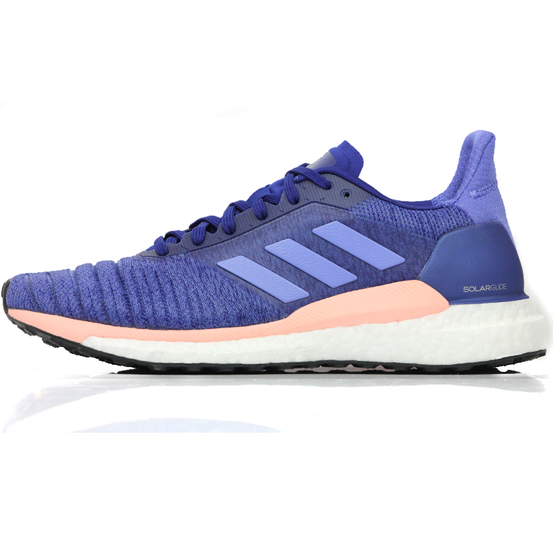 the latest f1151 89be6 adidas Solar Glide Womens Running Shoe blue side