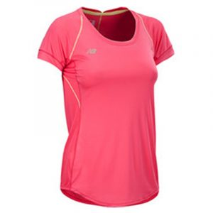 New Balance Impact Women's Short Sleeve Tee pink front