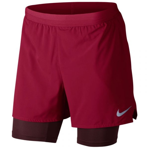 nike flex stride 2in1 men's running short red front