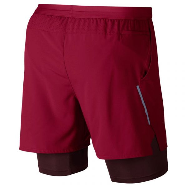 nike flex stride 2in1 men's running short red back