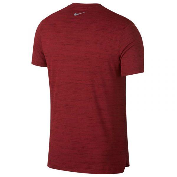 Nike Miler Short Sleeve Men's Running Tee red back