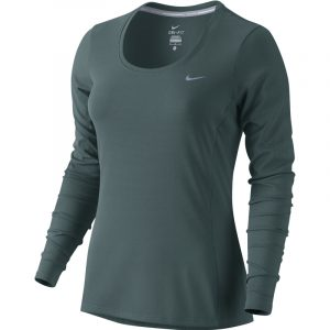 Nike Contour Long Sleeve Women's Running Tee grey front