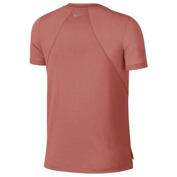 Nike Miler Short Sleeve Women's Running Tee orange back